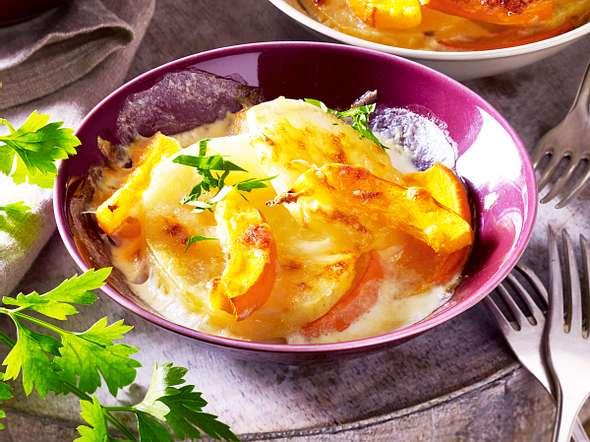 Kartoffel-Kürbis-Gratin Rezept