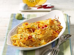 Kürbis-Spaghetti-Auflauf Rezept