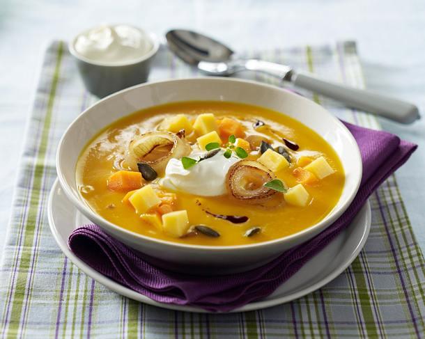 Kürbissuppe in vier Variationen Rezept