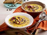 Kürbissuppe mit Cabanossi Rezept