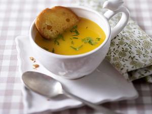 Kürbissuppe mit Muskat und weißem Balsamico Rezept