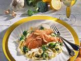 Lachs auf Broccoli-Nudeln (Diabetiker) Rezept
