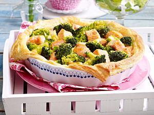 Lachs-Brokkoli-Quiche Rezept