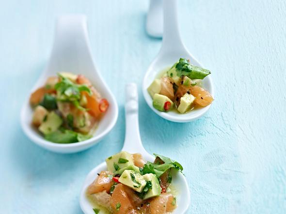 Lachs-Ceviche mit Avocado Rezept