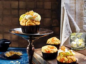 Lachs-Cupcake mit Honig-Senfcreme Rezept