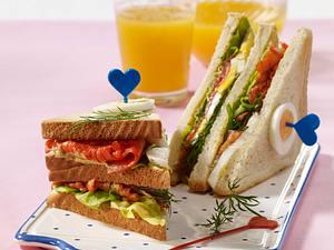 Lachs-Ei-Sandwich Rezept