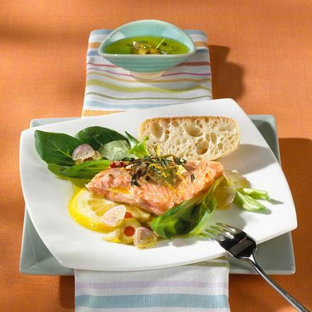 Lachs mit Oliven-Marinade Rezept