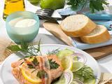 Lachs mit Speck und Gurkensalat Rezept