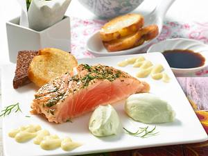 Lachs mit Wasabi-Mousse Rezept