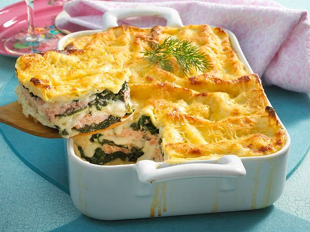 lachs spinat lasagne rezept lecker. Black Bedroom Furniture Sets. Home Design Ideas