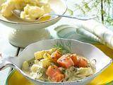 Lachs und Schmorgurken in Senf-Dill-Soße Rezept