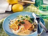 Lachsfilet mit Zitronensoße (Diabetiker) Rezept