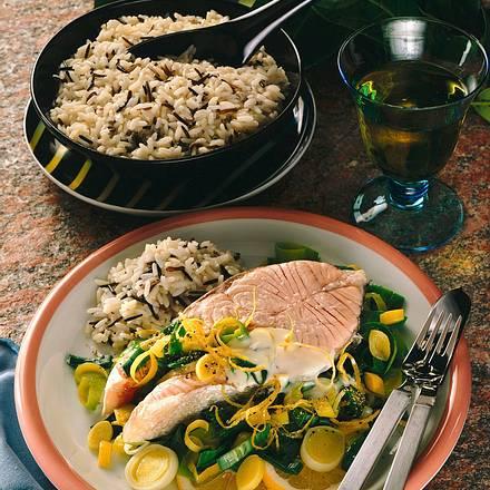 Lachskoteletts in Wermuth-Sahne Rezept