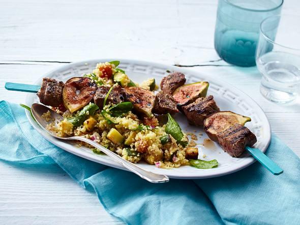 Lamm-Feigenspieße mit Couscous-Salat Rezept
