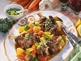Lammhaxen mit Bouillon-Gemüse Rezept