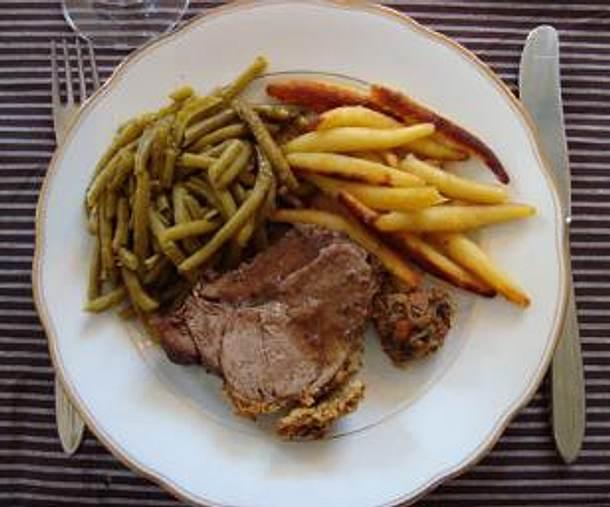 Lammkeule in Olivenkruste Rezept