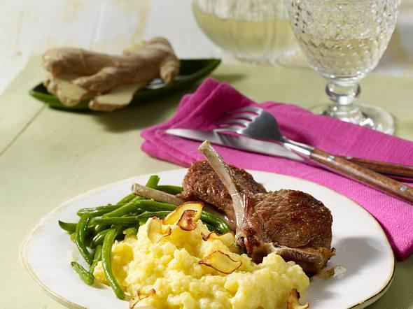 Lammkoteletts mit Knoblauchpüree Rezept