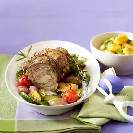 Lammrollbraten mit Schmorgemüse Rezept