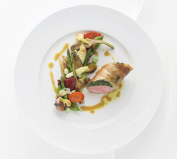 Lammrücken aus den französischen Voralpen, gratiniertes junges Gemüse (Alain Ducasse) Rezept