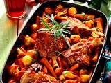Lammstelzen mit glasierten Karotten und Schalotte Rezept