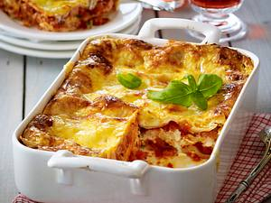 Lasagne mit Kasseler-Gemüse-Soße (mit Schmelzkäse) Rezept