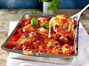 Lasagne mit Salami-Meatballs in Tomatensoße Rezept
