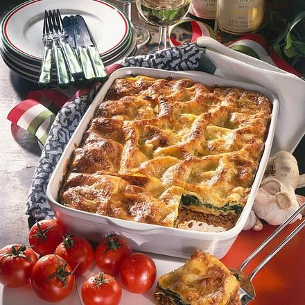 Lasagne mit Spinat und Hack Rezept