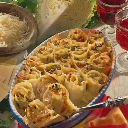 Lasagne-Schnecken Rezept