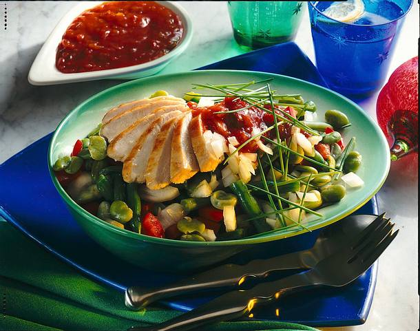 Lauwarmer Bohnensalat Rezept