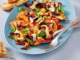 Lauwarmer Pilz-Kürbis-Salat Rezept