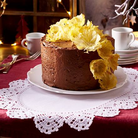 Layer-Cake mit Ananas-Blüten Rezept