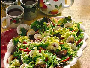 Leber-Apfel-Champignon- Salat Rezept