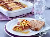 Leberkäs-Röllchen mit Lauch-Möhren-Gemüse Rezept