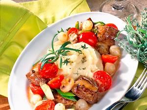 Leberragout mit Kartoffelpüree Rezept