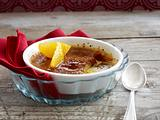 Lebkuchen-Crème-brûlée mit Orangenfilets Rezept