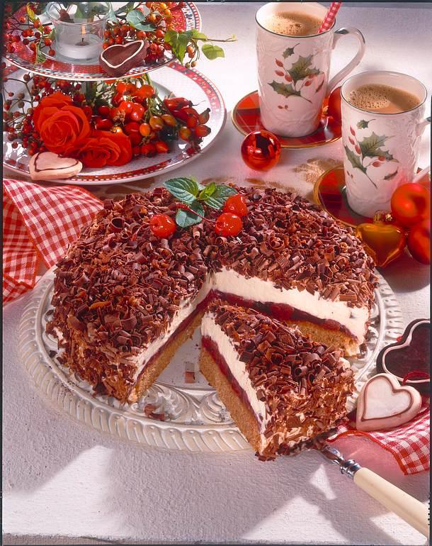Lebkuchen-Torte mit Kirschen Rezept