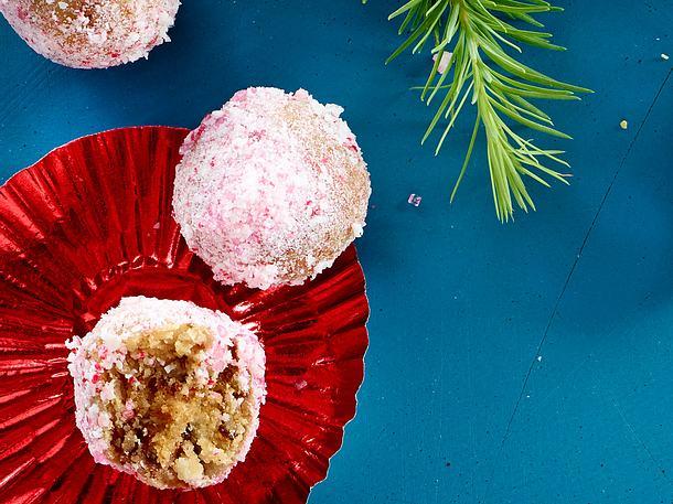 Lebkuchenkartoffeln gepudert mit süßem Zuckerstangenstaub Rezept