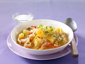 Leichte Kartoffel-Sauerkraut-Suppe Rezept