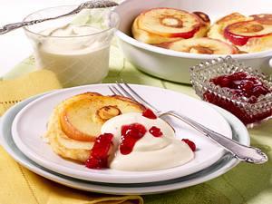 Leichte Mini-Apfelpfannkuchen Rezept