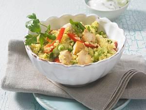 Leichter Couscous-Salat mit Champignons Rezept