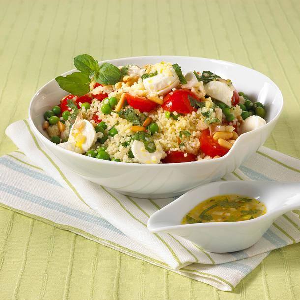 Leichter Couscous-Salat mit Mozzarella Rezept