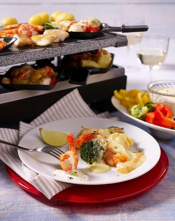 leichtes fisch raclette rezept lecker. Black Bedroom Furniture Sets. Home Design Ideas
