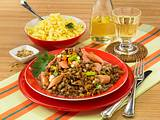 Linsengemüse mit Wiener Würstchen und Spätzle Rezept