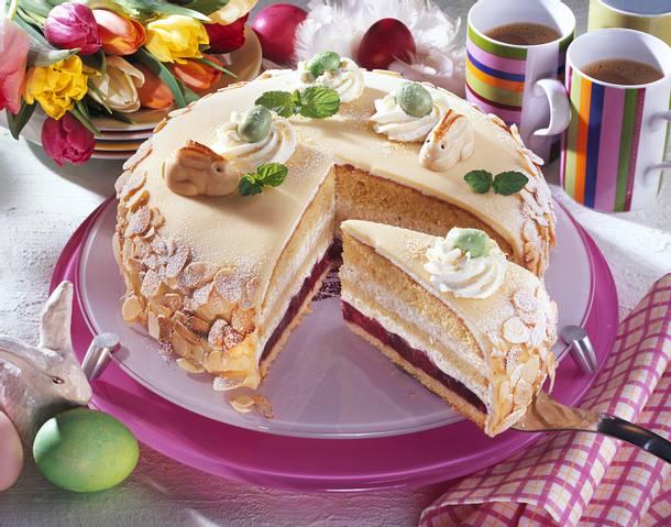 L becker kirsch marzipan torte rezept lecker - Torten dekorieren mit marzipan ...