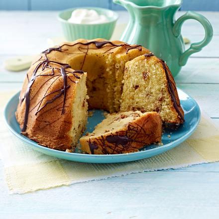 Luftiger Mandel-Kuchen mit Puffreis Rezept