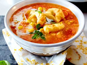 Mais-Süßkartoffel-Suppe Rezept