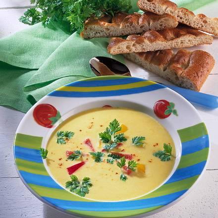 Maiscreme-Suppe mit Paprika Rezept