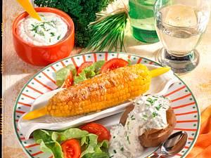 Maiskolben zu Ofenkartoffeln Rezept