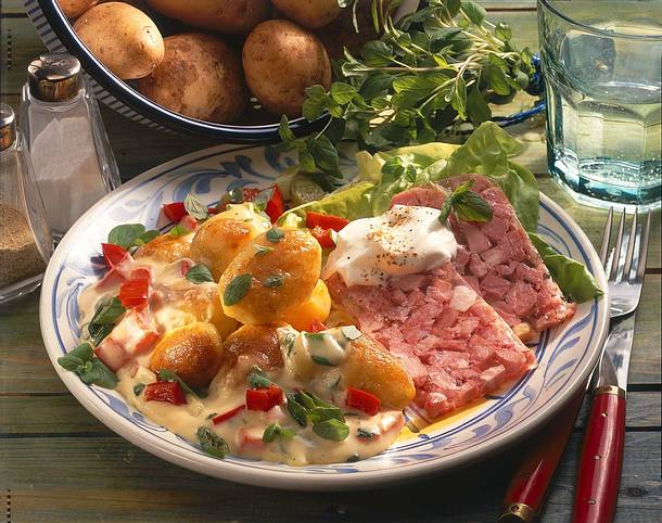 Majoran-Kartoffeln mit Sülze Rezept