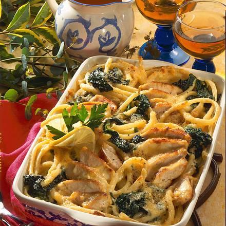 Makkaroni-Spinat-Auflauf Rezept